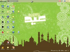 eid wallpaper by littlesha