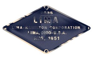PRR Lima-Hamilton Diesel Builder's Plate by GeorgeLodge