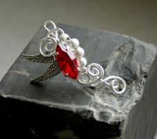 Fiery Fairy - ear cuff by Bodza