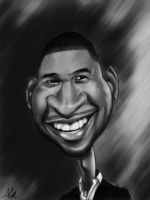 Usher_caricature by Modernerd