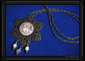 Metal Flower Necklace by 13thpsyche