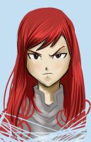 Quick Sketch - Erza Scarlet by Chronokhalil
