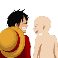 Time Skip Luffy Couple Base by RainDrops212