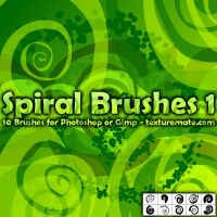 Spiral Brushes 1 by AscendedArts