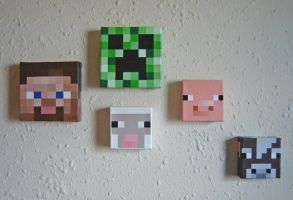 3D Minecraft Inspired Paintings by hglucky13
