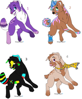 Canine Adoptables -Open- by Lovablesh