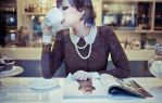 Cafe in Paris by blueanto