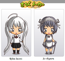 Chibi Rika Isoni and Jo Ayara in Chibi Maker by Hexidextrous