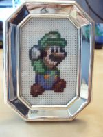 Luigi Cross Stitch by micadjems