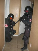 Resident Evil USS Close quarters by Demon-Lord-Cosplay