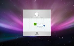 Apple OSX logon by aqua-mac