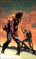 Turok:Dinosaur Hunter Issue #9 cover by panelgutter