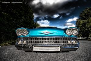 1958 Chevrolet Impala Front by AmericanMuscle