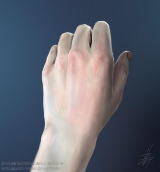 Hand study by StevenDrawsThings
