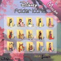 Disney Folder Icons - Mulan by EditQeens