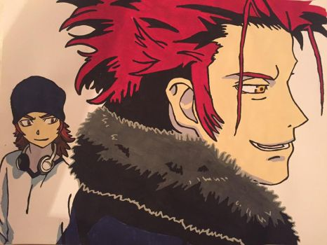 Day 8- Yata and Mikoto by Coley-sXe
