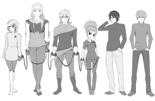 Original Character Sketches by BethanyFrye