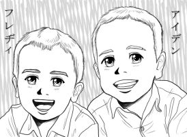 Freddie and Aiden's Anime Portrait by OtakuEC