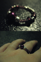 Crafted Purple Beaded Ring 1 by sampdesigns