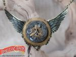 Winged propeller necklace by TimelessCharm