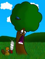 Beaver Hate Trees by anotherfantasticday