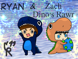 Toddler Zach and Ryan r Dinos by cmr-1990