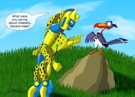 DMBW - Cheetor and Zazu by Jagna-Q7
