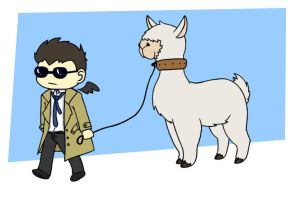 Walking My Alpaca by CrimsonHorror