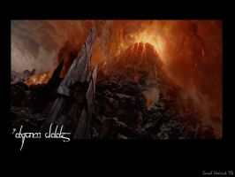 Mount Doom: LOTR by stitchmouth