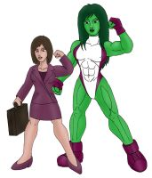 Modern Jennifer and She-Hulk by CycKath