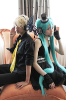 Vocaloid - Len and Miku 2 by Rinotou