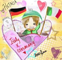 APH: Italy x Germany by Xero-hime