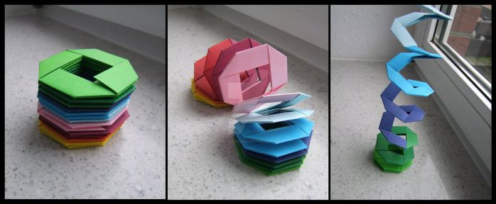 Origami Slinky by lonely--soldier