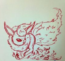Flareon sketch by Kyhber