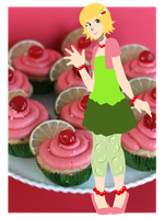 Cherry Limeade Cupcake by TheSweetestTart