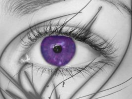 Desaturated Purple Eye by snowybell14
