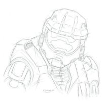 Spartan117 by AltairA7Vn