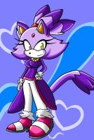 Blaze The Cat by FabienneTheHedgehog