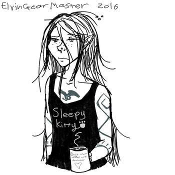 Doodle of RIvania- Not a morning person by ElvinGearMaster