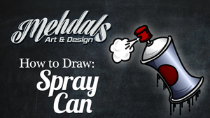 How to Draw a Spray Can by Mehdals