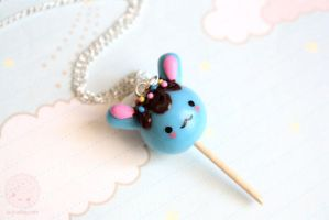 Bunny Lollipop Cute handmade Jewelry by kukishop