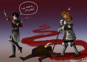 Aveline Would Like You To Stop Now Hawke by CaptainJacq24
