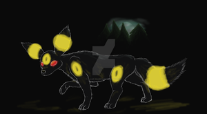 Umbreon Haunt by Flame-Shadow