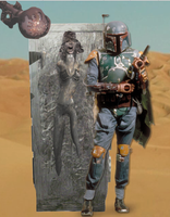bobafett delivers talorswift in carbonite to jabba by Cloudartistmaster