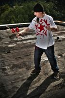 Juggling on the roof by Chiplar