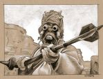 Tusken Raider :-O by sarahwilkinson