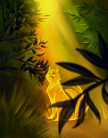 Yellow cat by Lamphy