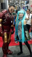 Miku and Iron Man by Timid-Appleton
