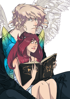 Cupid and Psyche by Dwie-Lewe-Rece