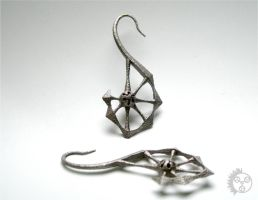 Spine Earrings - Pair by improbablecog